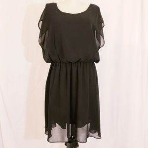 Fun & Flirt Black Flowy Dress
